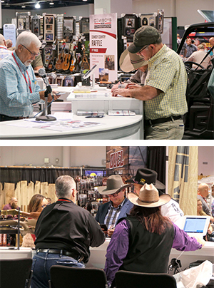 volunteers rep at rmef hunter and outdoor christmas cowboy christmas
